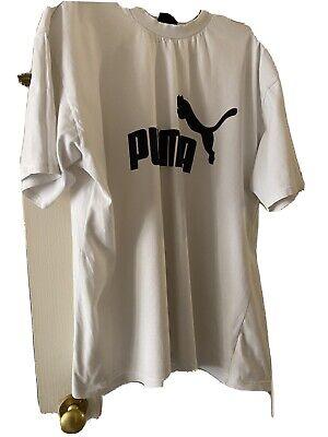 Mens Xl White T-shirt Puma  Vvgc