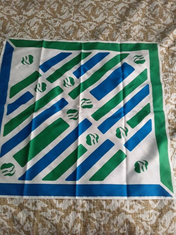Vintage 100% Polyester Girl Scout Scarf With Logo