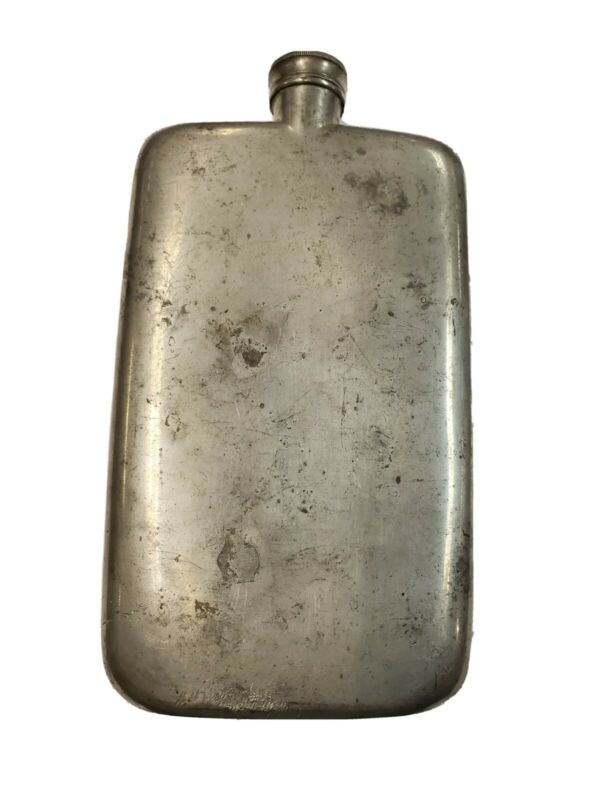 Very Rare! Large Vintage Dunhill 12 oz. Hip Flask Made in England
