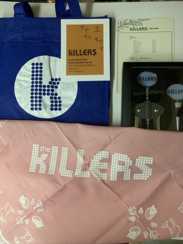 The Killers ⚡️Brandon Flowers 🌸 Lot Rare Napa Wine Popup Items