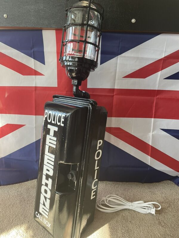 VINTAGE RARE POLICE EMERGENCY TELEPHONE CALL BOX Similar To GAMEWELL TELEGRAPH