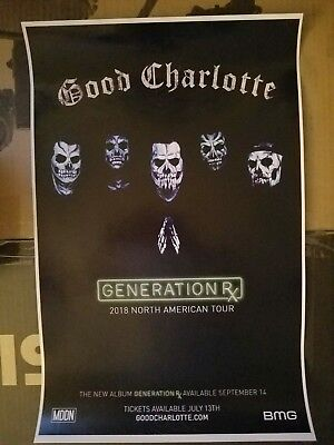 Good Charlotte 2018 promo generation rx tour concert poster tickets shirt