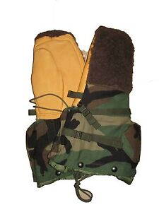 USGI-Military-Surplus-Army-Woodland-Camo-ECWS-Extreme-Cold-Hunting-Mittens-S
