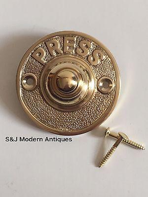 Round Door Bell Antique Mains Wire Vintage Push Button Brass Doorbell Victorian