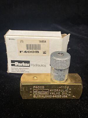 Parker Hydraulic Flow Control Valve 2000 Psi 5.0 Gpm 14 Npt F400b 1a854
