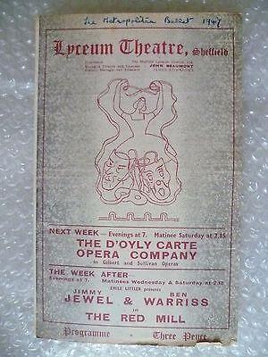 1947 Lyceum Theatre Programme THE METROPOLITAN BALLET multi programme