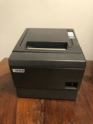 Epson Micros Tm-t88iii M129c Thermal Pos Printer W Power Supply Data Cable