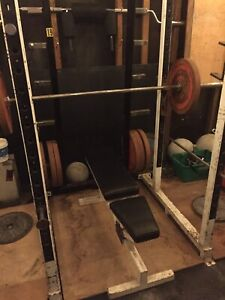 Cage PowerLifting Heavy Duty + Bumper Plates