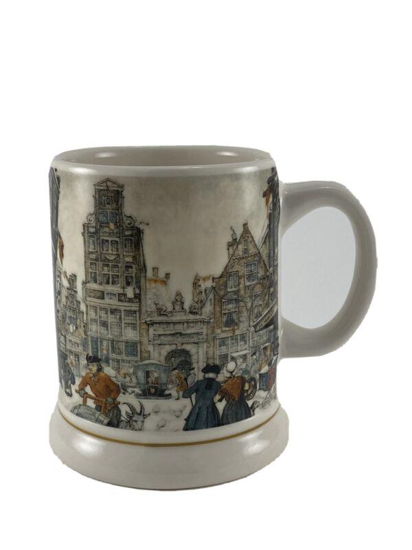 Ter Steege BV Holland Handdecorated Coffee Mug Anton Pieck Victirian City Life