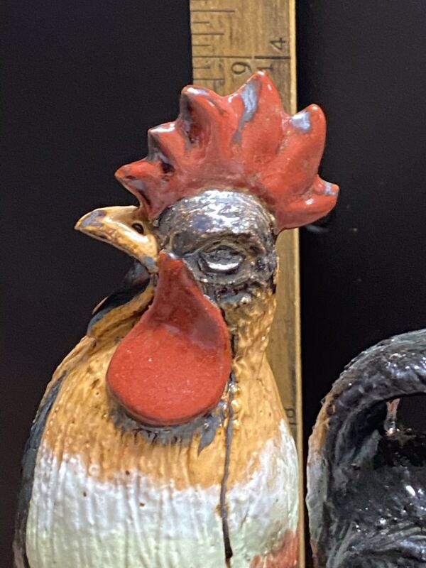 Rare Find! Michel Bayne Little Red Rooster - Wood Fired