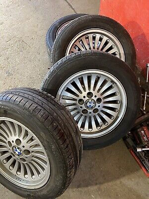 Genuine BMW 16 Inch Alloy Wheels With Tyres 225 55 16. Good Tyres And Clean Allo