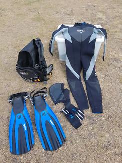 Scuba gear. Mares