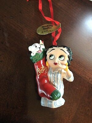 Betty Boop Danbury Mint Christmas Ornament STOCKING STUFFER  Porcelain w/Tag