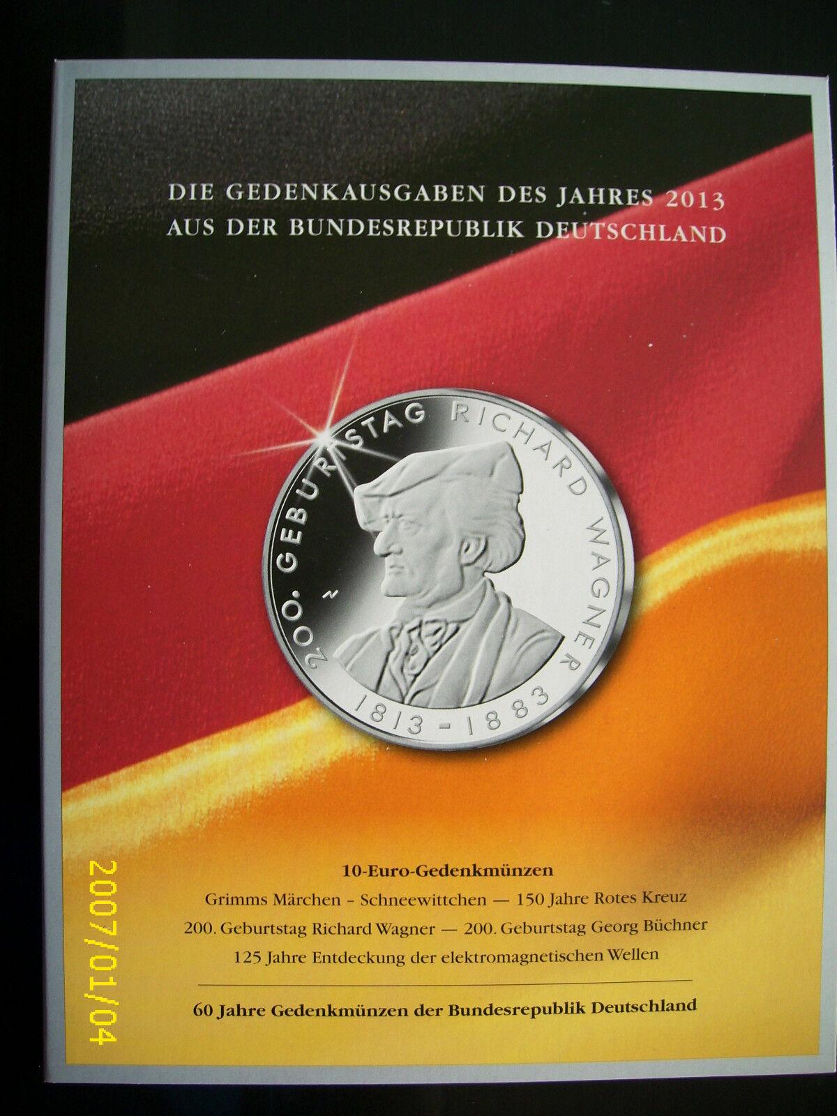 Folder Blister Hülle Für 10 Eur Münzen 2013 Von