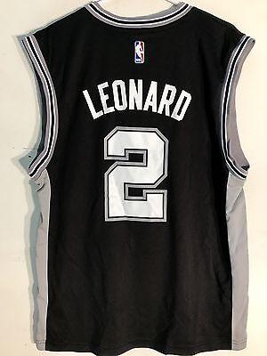 Adidas San Antonio Spurs (Adidas NBA Jersey San Antonio Spurs Kawhi Leonard Black sz L )