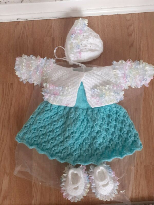 Lovely handknitted Reborn Baby Doll Outfit