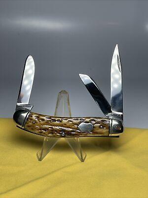 VINTAGE W. R CASE & SONS BRADFORD PA Knife 1905-1914 Rogers Bone Sowbelly Nice