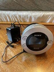 SONY DREAM MACHINE Alarm Clock Radio Auto Time Set Dual CD IPod iPhone