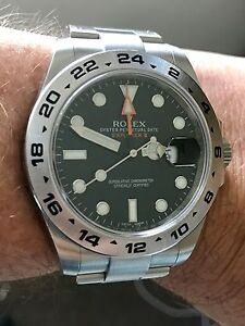 Rolex Explorer II only 6 months old. Carindale Brisbane South East Preview