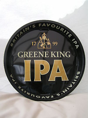 "IPA Green King 12"" Metal Serving Beer Bar Drinks Tray Home/Pub/Party New"