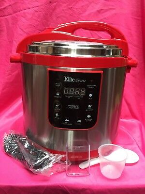 Electric Pressure Cooker 10 Quart Elite Large 8 Functions Canning Timer Delay QT