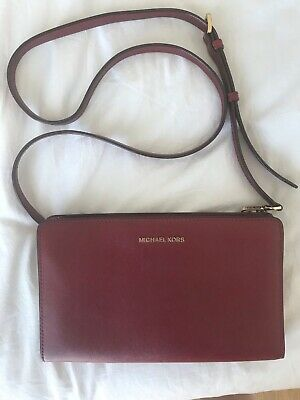 Michael Kors dark pink/red cross body bag - authentic