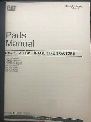 Caterpillar D5g Xl Lgp Track Type Tractor Parts Manual Cat Sebp3363-41 Book
