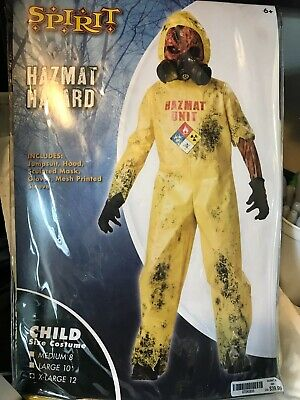 NEW SPIRIT HALLOWEEN CHILD HAZMAT HAZARD COSTUME, BOY XL 12