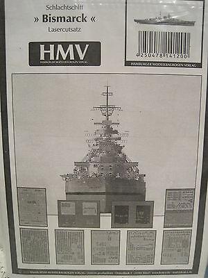 Bismarck Lasercutsatz 1:250 f.Kartonbausatz *NEU* HMV- Bastelbogen