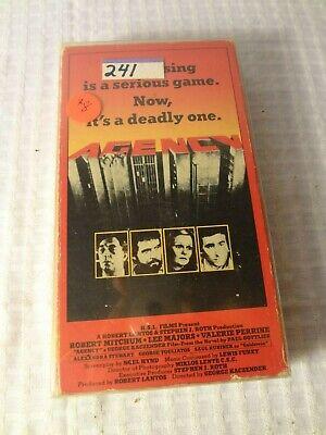 Agency - VHS - Robert Mitchum - Lee Majors - Valerie Perrine