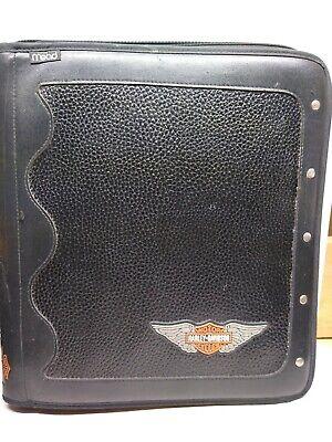 Mead Harley Davidson Motorcycles Black Zippered Portfolio