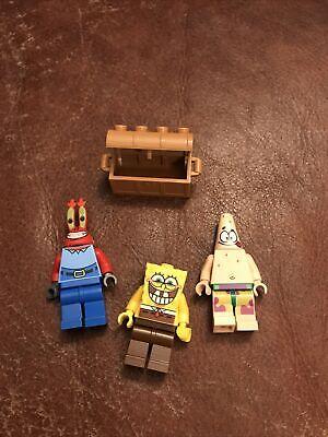 Lego Minifigures SpongeboB Mr Crabs & Patrick from Spongebob Squarepants