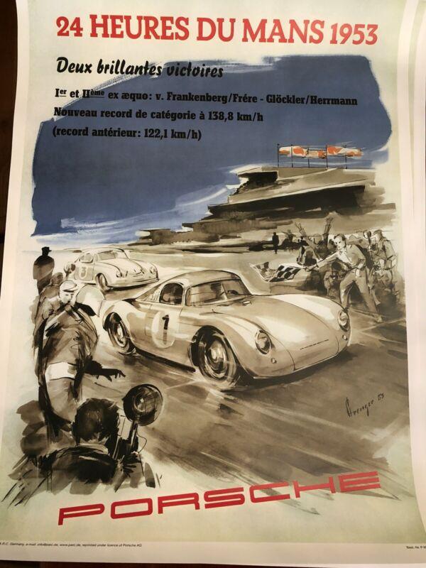 Porsche Poster 24 Heures DU MANS 1953