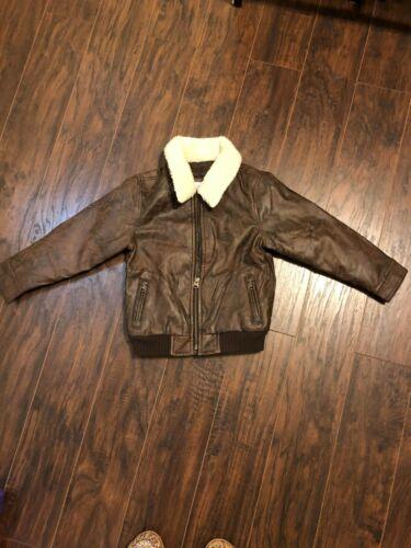 Kids Gap Aviation Coat NWOT Sz 5 Distressed Brown
