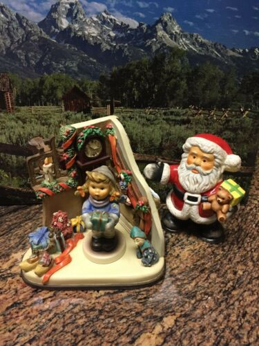 GOEBEL FIGURINES (2 ARE HUMMELS):  CHRISTMAS TIME #2106 & CHRISTMAS TIME HUMMELS
