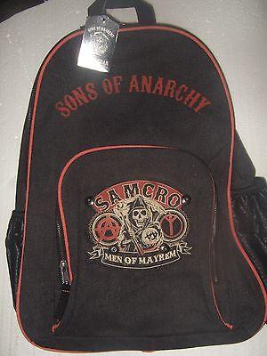 Black Sons Of Anarchy Soa Samcro Men Of Mayhem Reaper Biker Backpack Bag Tv Show