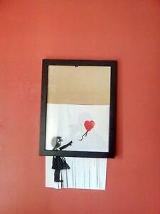 Original Banksy Shredded Girl With Balloon Framed
