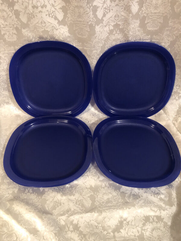 Tupperware 4 Piece Microwave Luncheon Lunch Plate Set Brand New Free Ship