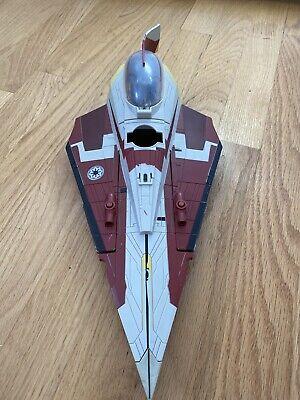 Hasbro Star Wars Clone Wars Obi-Wan Kenobi's Delta Starfighter No Missiles