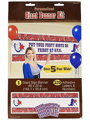 Western Theme Cowboy Party Supplies Decorations Giant Banner Kit