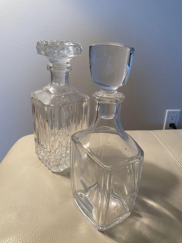(2) VINTAGE Decanter for Scotch Whiskey Wine Liquor