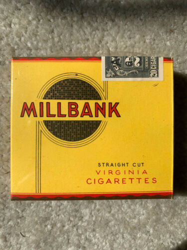 VINTAGE / COLLECTABLE 1950 MILLBANK CIGARETTE PACKET FREE SHIPPING