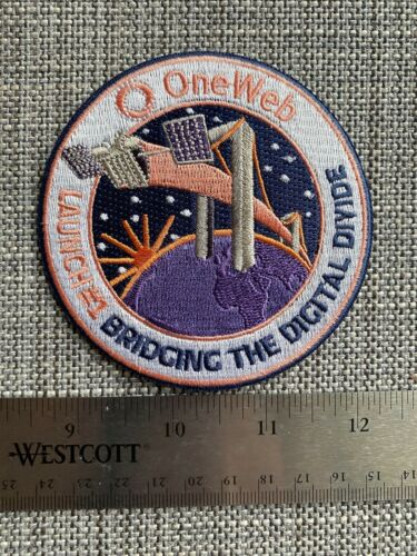 OneWeb-1 Launch Patch from VS-21 (Re-imaged Corporate Launch Patch)