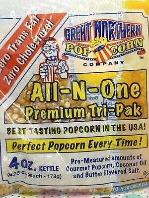 24 Great Northern Popcorn Portion 4oz Kettle Popcorn Butter Salt Packs