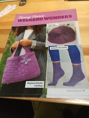 Lace Socks, Rose Petal Cushion, Beginner Friendly Handbag Knitting Pattern