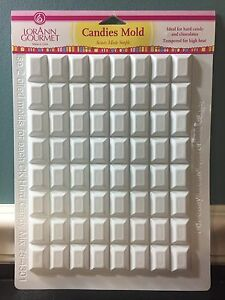 LorAnn Rectangle Break Up Apart Hard Candy White High Temp Candies Sheet Mold