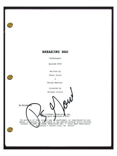 Peter Gould Signed Autograph Breaking Bad Kafkaesque Episode Script Writer COA