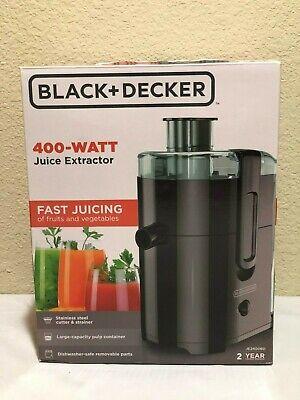 BLACK+DECKER JE2400BD 400W Electric Fruit And Vegetable Blender Juice Extractor Black Decker Fruit Vegetable Juice Extractor