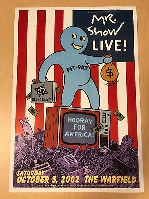 Mr. Show Live! Concert Poster Bill Graham Presents 2002 The Warfield SF