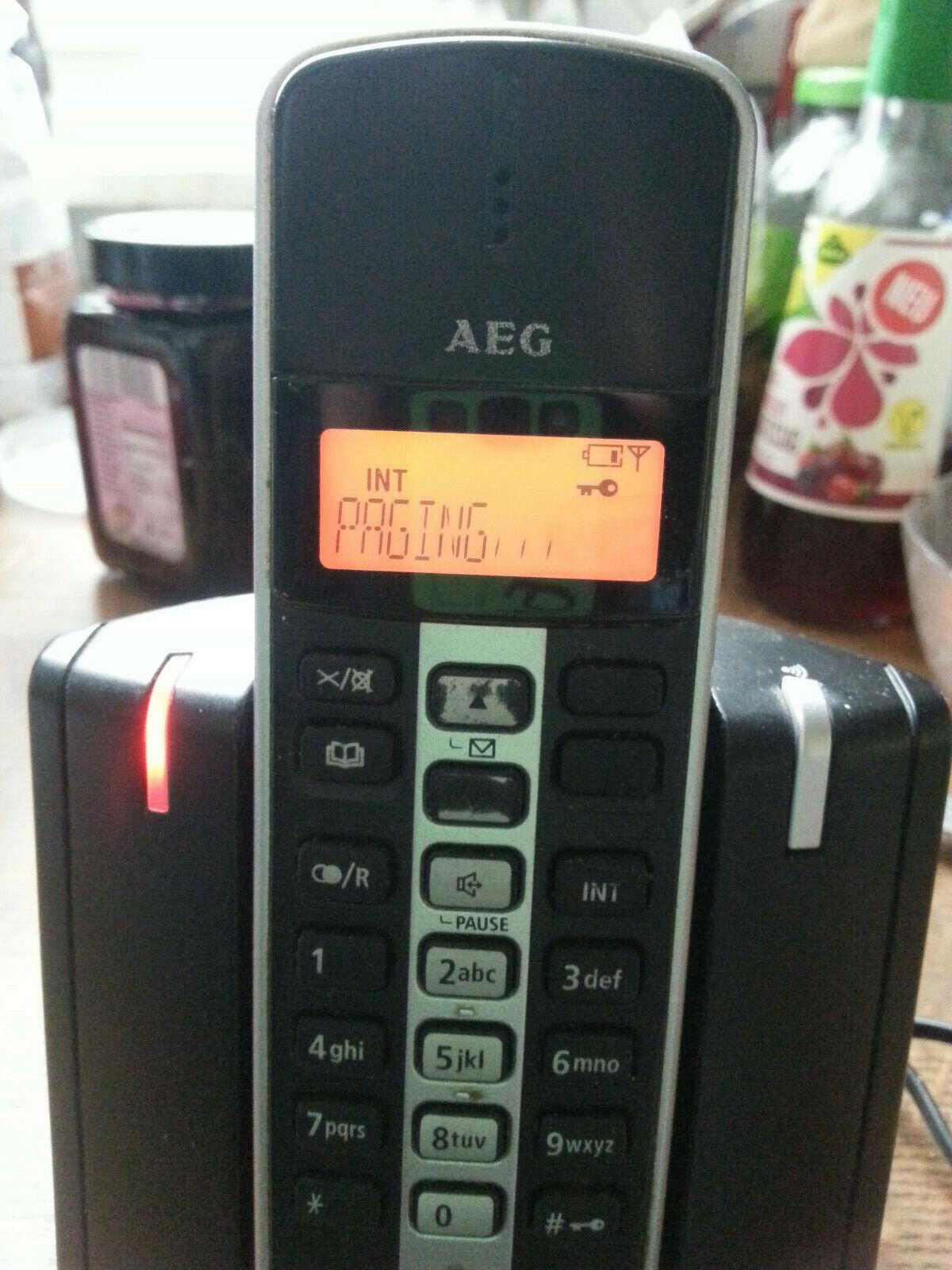 AEG Schnurlos Telefon Tara 200 DECT/GAP mit beleuchteten LCD Display; Batt.-Neu